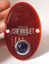 Chevrolet Chevy Car Tail Lamp Lens W/Blue Dot 1933-1936 Pair - Made in the USA
