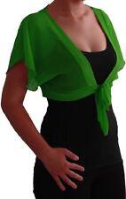 Womens Short Sleeve Bolero Shrugs Plain Fashion Casual Cardigan Crochet Tops