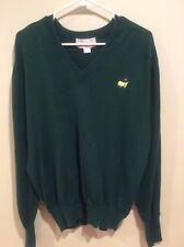 Men's Slazenger Augusta National Golf Shop Green Crewneck GOlf Sweater LS Large