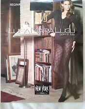 Luisa Maria lugli Regina Micro Tights With Rhombus Design Black Pantyhose Size L