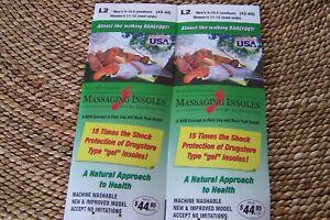2 Pair Massaging Insoles BestSole Men Women Size L2 ** FREE SHIP SAME DAY **