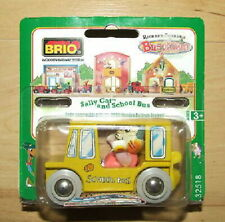 Richard Scarry's Busytown Sally Cat & School Bus by Brio. New in Pack!