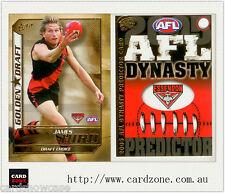 2005 Select AFL Dynasty Golden Draft DC5 James Hird + Predictor Essendon