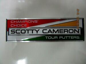 SCOTTY CAMERON STICKER DECAL CLUB CAMERON ONLY GOLF BUMPER STICKER RARE NEW NICE