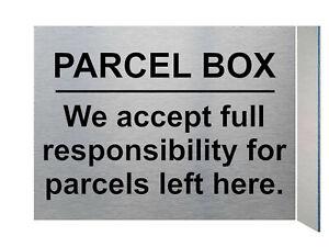 UV103 PARCEL BOX Digital Aluminium Composite Plaque Sign Door Gate House Office