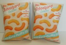 Schoolyard Snacks Sampler Keto Puffs 2 Bag Bundle of Cheddar Cheese! EXP 07/2021