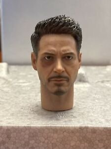 Hot Toys MMS353 Iron Man Mark 46 Tony Stark Head Sculpt And Collar