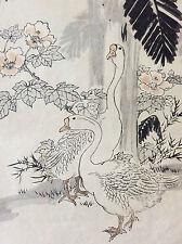 Kono Naotoyo Bairei estampe japonaise oie fleur maître Kacho-e XIXe Japon Nippon
