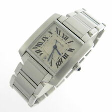 CARTIER TANK FRANCAISE AUTOMATIC 2302 MEN'S WATCH 100% GENUINE STAINLESS STEEL