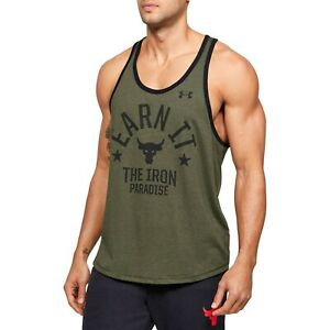 Under Armour Men's Project Rock Earn It Graphic Tank Top T-Shirt 1353922-315