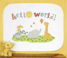 Dimensions Counted Cross Stitch Kit D70-75327 Hello World Babies Quilt