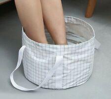 Foldable Portable Foot Bathing Bucket Collapsible Washing Massage Basin Holder