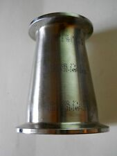 "3-A 316L Stainless Steel 2"" x 1-1/2"" Sanitary Clamp Concentric Reducer Fitting"