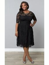 LANE BRYANT PLUS SIZE Luna Lace DRESS BY KIYONNA 18/20 BLACK