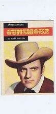 Topps 1958 Western TV Card #1, Gunsmoke - James Arness, vintage non-sports card