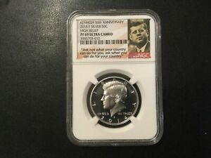 2014-P KENNEDY HALF DOLLAR 50th ANNIVERSARY CERTIFIED NGC PF69 ULTRA CAMEO!