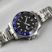 43mm BLIGER Sapphire Glass GMT Automatic Luminous Mark Date Men Boy Luxury Watch