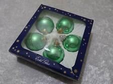 Christbaumschmuck Weihnachtskugel Thüringen Glas 4St OLIVE GOLD L15cm//Durchm13cm
