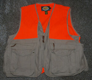 Cabelas Men's Hunting Vest Orange / Beige Size XL NICE!