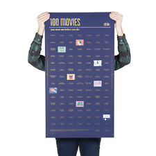 DOIY 100 Movies You Must Watch Before You Die Poster 98cm X 54.5cm Peel off