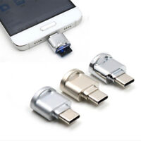 Mini Aluminium Alloy USB 3.1 Type C Micro SD TF Memory Card Reader OTG Adapter