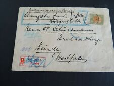 Nederland 73 op aangetekende waardebrief Amsterdam - Bünde 1923