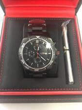 Reloj De Pulsera Genuine BMW M Negro Cronógrafo pn: 80262406694 nuevo Reino Unido