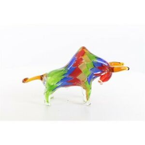 9973860 Glas Figur Murano Stil stilisierter Stier 35x10x19cm