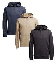 JACK & JONES New Men's Cotton Half Zip Up Overhead Hooded Sweatshirt Top Hoodie