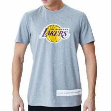New Era Nba Los Angeles Lakers Block Wordmark  Camiseta Gris Hombre