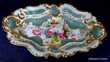 Antique Count Thun Hand Painted Floral Centerpiece Bowl Impressed TK Mark