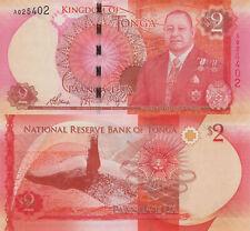 Tonga 2 Pa'anga (2015) - King/Whale/p44 UNC Banknote