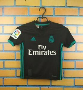 Real Madrid Jersey 2017 2018 Away Kids 7-8 Youth Boys Young Shirt B31092 Adidas