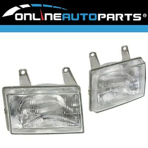 LH+RH Genuine Headlights Pair suits Ford Courier PE 1999-2002 Left Right L+R Set