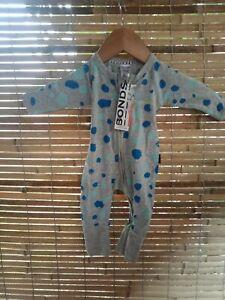 Bonds baby zippy wondersuit Newborn 0000 Boys Grey Spotted Print Arm Mitten
