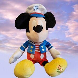 "Disney Mickey Mouse Sailor Plush Macys Holidays 2009 Talking Plush 20"" Works"