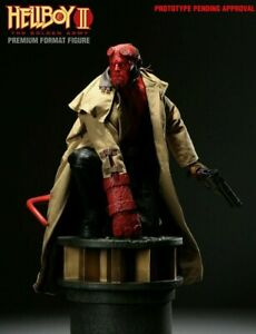 SIDESHOW  HELLBOY II  PREMIUM FORMAT 1/4 SCALE   #742 IN FACTORY SEALED SHIPPER