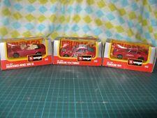 Bburago Die Cast Cars x 3. 1:43 Scale.