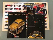 1:18 1:24 1:43 1:64 B BURAGO lotto Cataloghi Brochure Poster Automodelli  rare