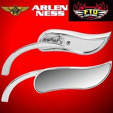 Arlen Ness Mirror Micro Upswept Chrome Left Side 13-408