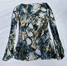 Kenneth Cole New York Women's Long Sleeve Snake Print Shirt Small