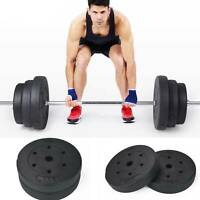 """1"""" Weight Plates for Dumbbells & Weights Lifting Bars Gym Barbell 5kg and 10kg"""