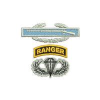 CIB Airborne Jump Wings Ranger Tab Embroidered Polo Shirt