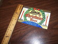 Lithia Christmas Beer~West Bend Lithia Co~West Bend Wisconsin~Beer Bottle Label