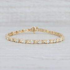 "2.50ctw Diamond Tennis Bracelet 14k Yellow Gold 6.75"" 3.7mm"