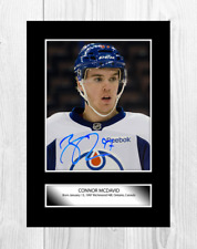 More details for connor mcdavid 1 edmonton oilers nhl signed a4 poster choice of frame