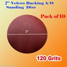 """10x 7"""" 120 Grit Sanding Disc Paper Hook and Loop Grinder Sander Abrasive"""