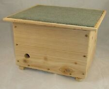 BUMBLE BEE HOUSE HIVE NESTER BOX - WITH OBSERVATION WINDOW - CEDAR