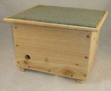 Bumble Bee maison Ruche Nester Box-avec fenêtre d'observation - Cedar