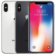 Apple iPhone X 64Gb 256Gb Gsm Factory Unlocked Cell Phone Grey Silver Very Good
